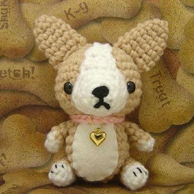 Corgi Dog Amigurumi - Free Crochet Pattern - StringyDingDing | 400x400