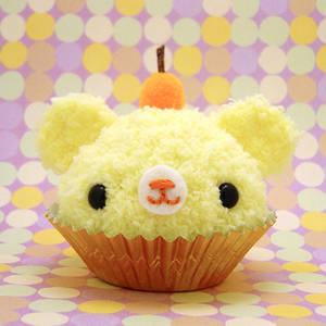 Yellow Fruit Cupcake Bear