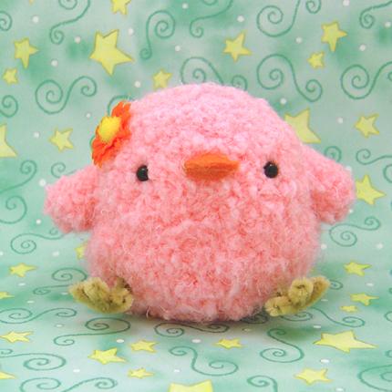 Amigurumi Pink Chickie Bird by amigurumikingdom