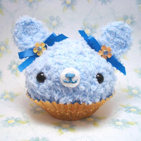 Amigurumi Cupcake Bunny : Amigurumi Blue bunny cupcake by amigurumikingdom on DeviantArt