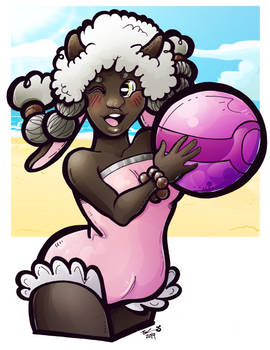 Wooloo at the beach