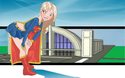 Supergirl fitting in frame wbg by Tompach