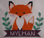 Fox in cross stitch