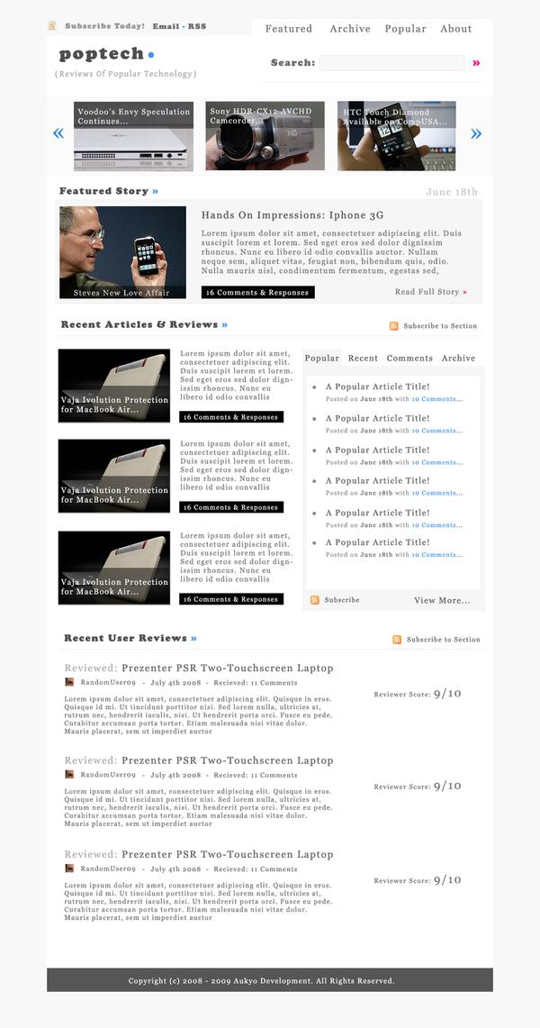 PopTech: Wordpress by alexjames01