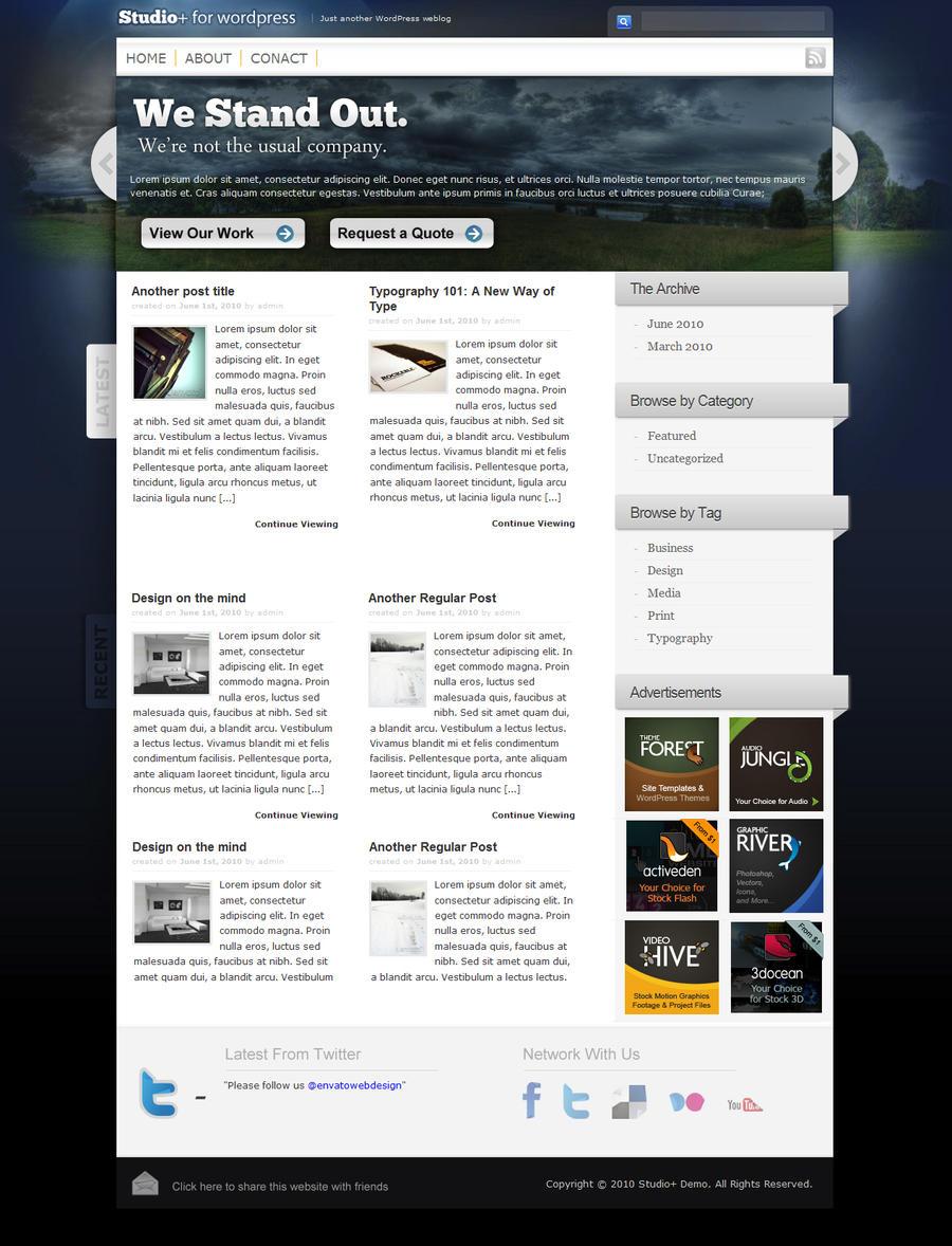 Studio+ Web Design by alexjames01