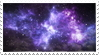 Space Stamp (Blue and Purple)
