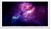 Space Nebula Stamp (Blue and Purple) by KimoTheFangirl