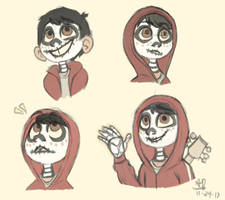 Coco - Miguel doodles by KimoTheFangirl