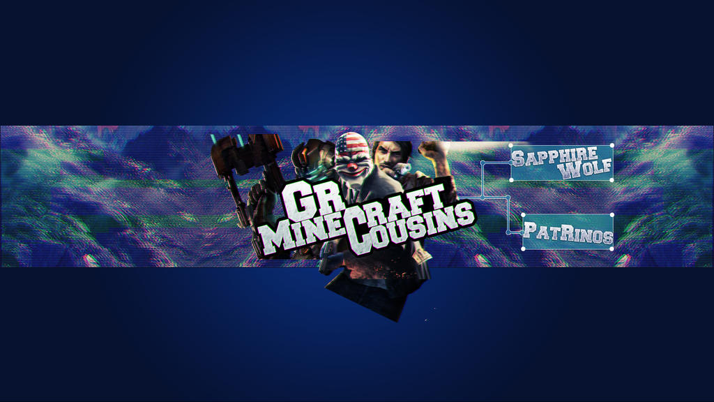 Youtube Banner Template - GrMinecraftCousins by YToLDSCHooL on ...