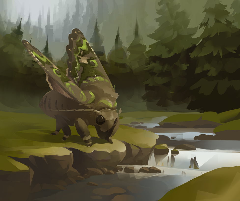 Forest creek by LazyLapwing