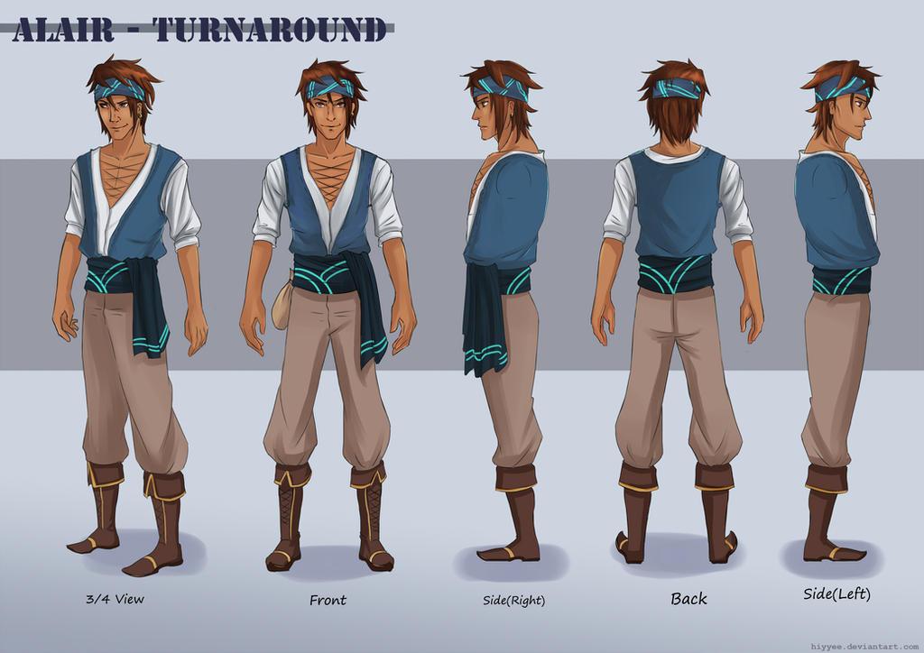 Anime Boy Character Design : Character design turnaround alair by hiyyee on deviantart