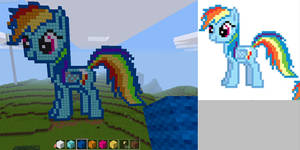Rainbow Dash in Minetest