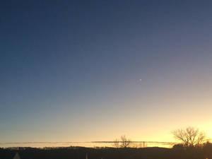 Moon / Evening Sky