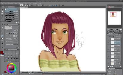Trying out Clip Studio Paint by BIGrKap