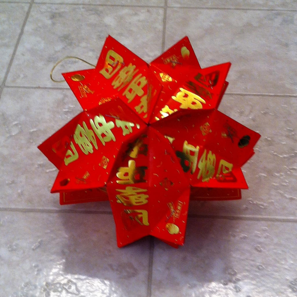 Chinese red envelope lantern folding by jossfolder on ...