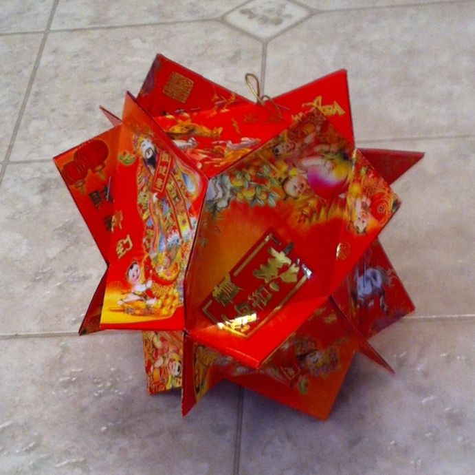 Chinese red envelope lantern folding by jossfolder on for Ang pao decoration