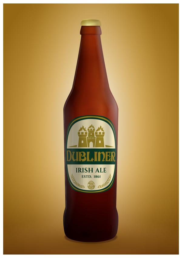 Beer bottle Illustrated by gadyariv