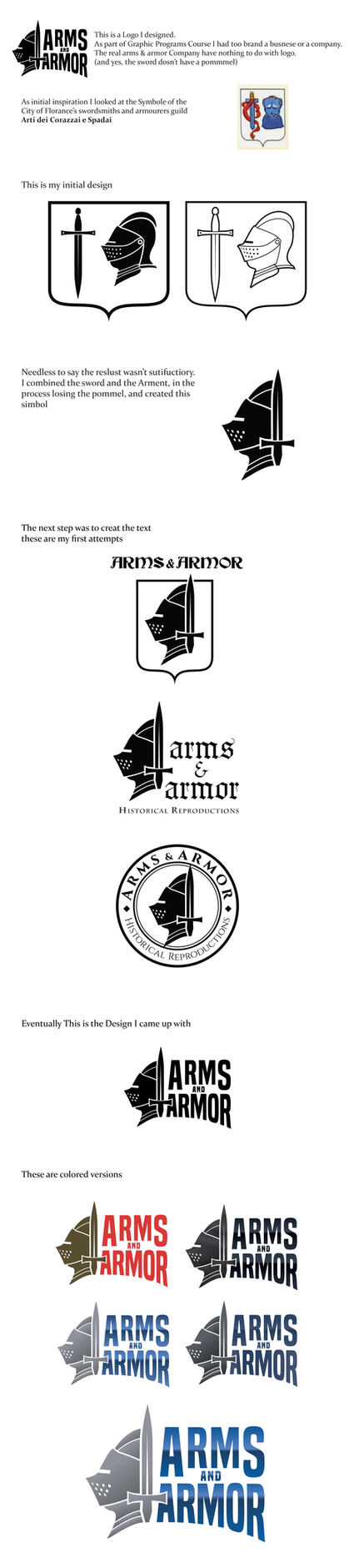 Arms and Armor Logo Redesign by gadyariv