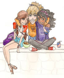 piper annabeth and hazel by mox-ie