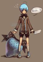 killer strawberries are blue by len-yan