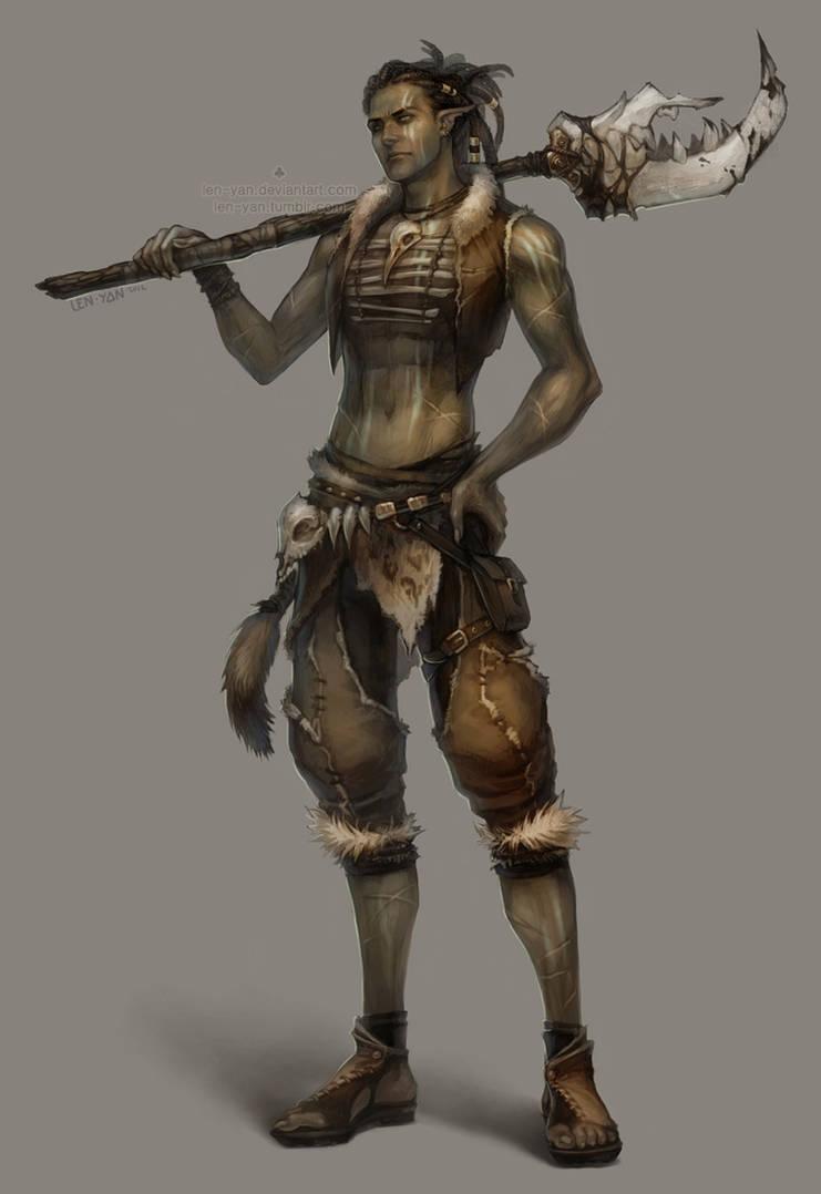 tribal warrior by len-yan