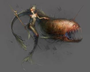 deep sea mermaid by len-yan