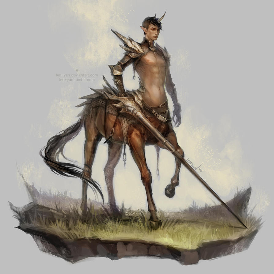 centaur lancer by len-yan