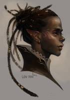 golden eyed elf by len-yan
