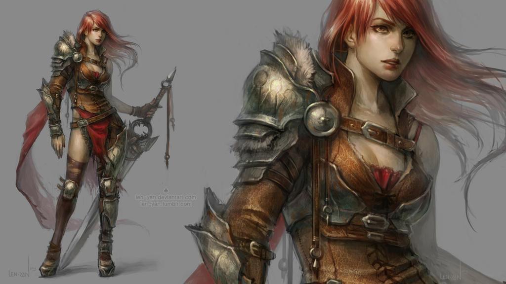 Inventario de Lena  Half_plate_warrior_by_len_yan-d6z5qo7