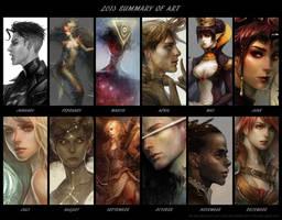 2013 summary of art by len-yan