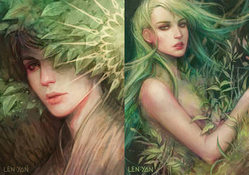 enchanted forest - previews by len-yan