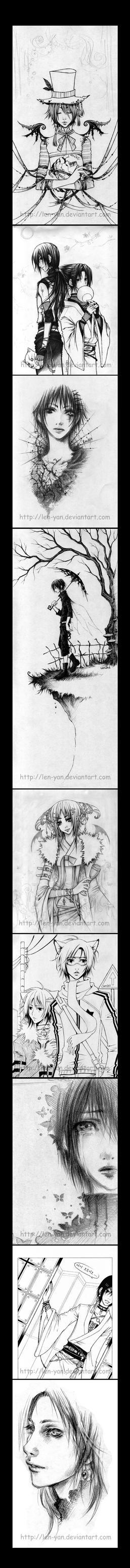 linearts by len-yan