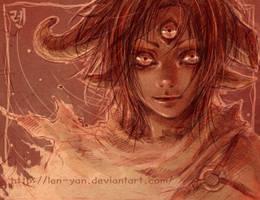look into my eyes... by len-yan