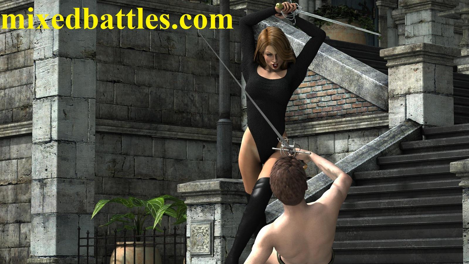 mixed boxing man vs woman