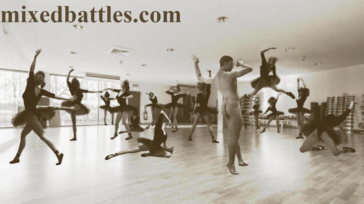 http://mixedbattles.com CFNM ballet studio by q1911
