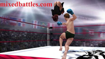 http://mixedbattles.com mixed boxing fight by q1911