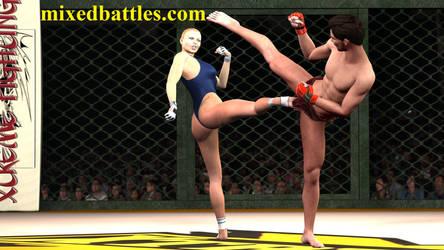 http://mixedbattles.com Ronda Rousey mixed fight by q1911