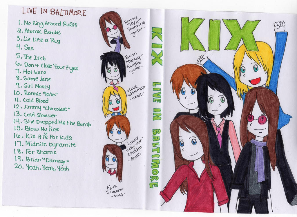 KIX Live In Baltimore DVD cover by