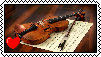 Violin Stamp by BubblySkies