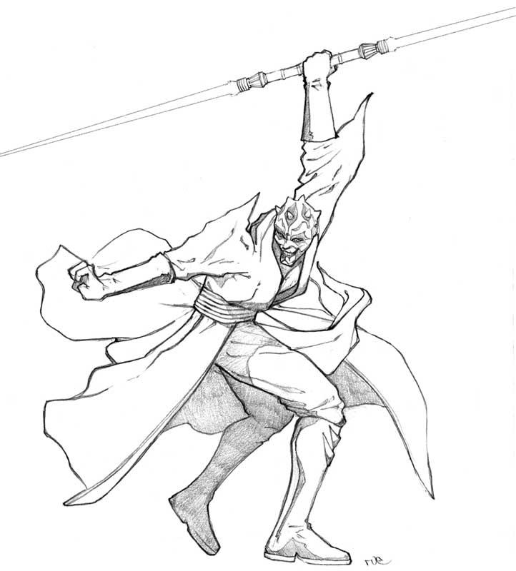 Darth Maul By Rubear On Deviantart Darth Maul Coloring Pages
