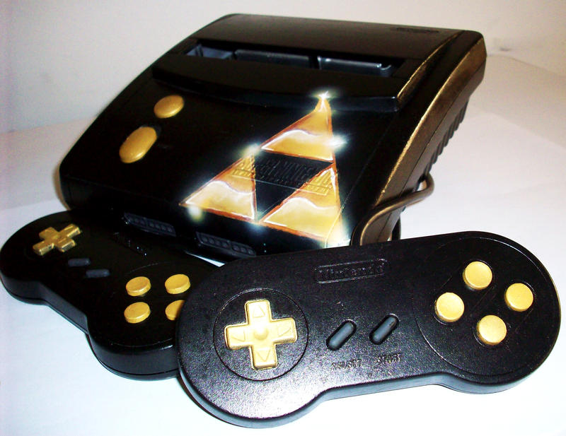 -= CUSTOM SUPER NES  =- Custom_SNES__Legend_of_Zelda_by_ooape