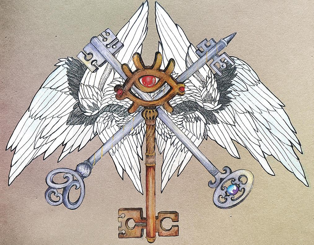 Keys and wings by Arabella87