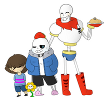 Happy Family [UNDERTALE] by BunsDream