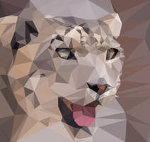 Snow Leopard Poly Art by Lunarks