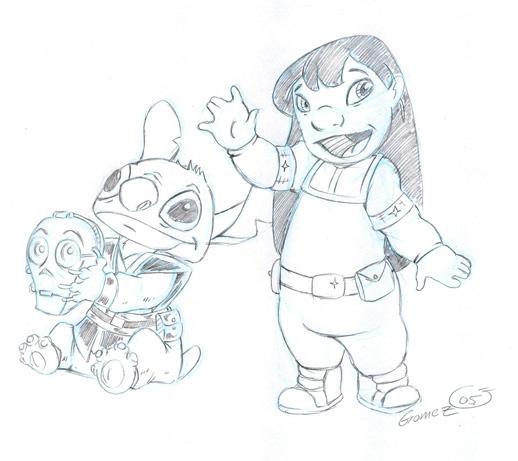 Star Wars Lilo and Stitch by DarthZemog