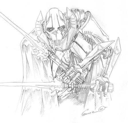 General grievous by darthzemog on deviantart for General grievous coloring page