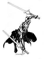 Darth Maul - Inked by DarthZemog