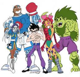 Teen Titans Street Fighter by DarthZemog