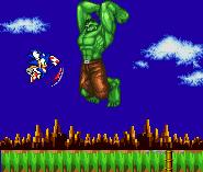 Hulk Vs Sonic by MJC100