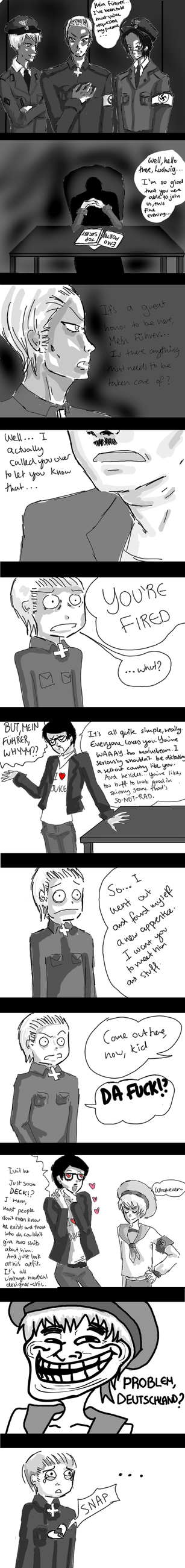 HIPSTER HITLER vs. APH by sirseesrainbows